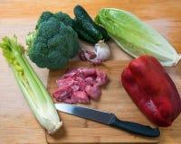świeżego mięsa warzywa Zdjęcie Stock