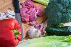 świeżego mięsa warzywa Zdjęcie Royalty Free