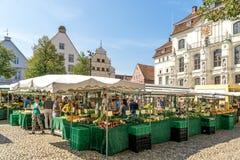 Świeżego produkt spożywczy rynek w rynku Lueneburg Niemcy Obrazy Royalty Free
