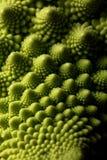 Świeżego romanesco makro-, selekcyjna ostrość kapuściana jarzynowa, obraz stock