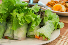 Świeżego warzywa kluski wiosny rolka Obrazy Royalty Free