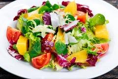 Świeżego warzywa mieszanki Mangowa sałatka Fotografia Royalty Free