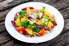 Świeżego warzywa mieszanki Mangowa sałatka Obrazy Royalty Free