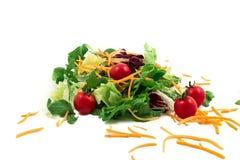 Świeżego warzywa mieszanki sałatka odizolowywająca na białym tle Obrazy Royalty Free