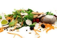 Świeżego warzywa mieszanki sałatka odizolowywająca na białym tle Zdjęcie Stock