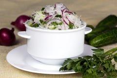 Świeżego warzywa sałatka Fotografia Stock