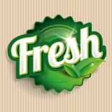 Świeżej żywności etykietka, odznaka lub foka, Zdjęcia Royalty Free