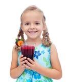 świeżej dziewczyny szczęśliwy zdrowy sok trochę Obraz Royalty Free