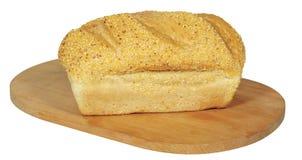 Świeżej kukurydzy kukurydzany chleb odizolowywający na bielu Zdjęcie Stock