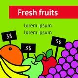 Świeżej owoc ulotka Fotografia Royalty Free
