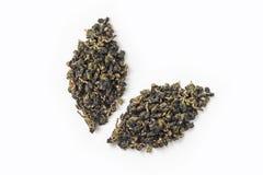 Świeżej Taiwan oolong herbaty suchy pączkowy układ jak liść ikona fotografia stock