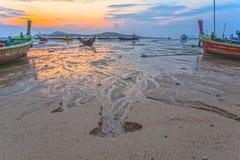 Świeżej wody spływanie od gór morze Obraz Royalty Free