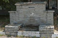 Świeżej wody wytryśnięcie od starej fontanny w centrum wioska Paunovo, Sredna Gora góra zdjęcie royalty free