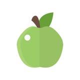 Świeżej zielonej jabłczanej odznaki wektorowi ilustracyjni zdrowie odizolowywali wyśmienicie świeżość deser, witaminę organicznie royalty ilustracja