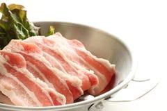 Świeżość brzucha pokrojona Japońska wieprzowina obrazy royalty free