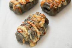 Świeżość węgla drzewnego serowy chleb z majonezem zdjęcie royalty free