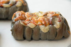 Świeżość węgla drzewnego serowy chleb z majonezem zdjęcie stock