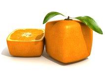 świeżości kubiczna pomarańcze Obrazy Stock