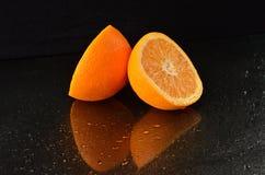 Świeżo cutted pomarańcze Obraz Stock