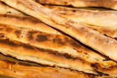 Świeżo gotujący serowy kulebiak Fotografia Stock