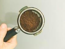 Świeżo mlejąca kawa dla kulinarnej kawy zdjęcia stock