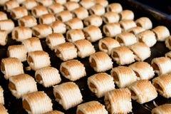 Świeżo Piec Ananasowy Tarta w Ciasta Sklepie Fotografia Stock