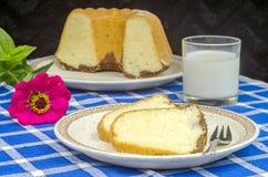 Świeżo piec bundt tort Zdjęcie Royalty Free