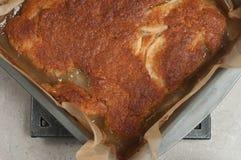 Świeżo piec jabłczany klamra tort zdjęcie stock