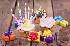 Świeżo piec muffins Zdjęcia Royalty Free