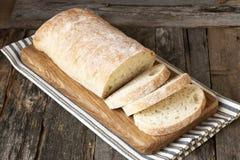 Świeżo piec tradycyjny ciabatta chleb fotografia stock