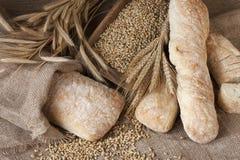 Świeżo piec tradycyjny ciabatta chleb fotografia royalty free