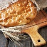 Świeżo piec tradycyjny turecki chleb fotografia royalty free