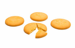 Świeżo piec wokoło ciastek odizolowywających obraz stock