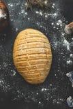 Świeżo robić chleb z wieśniakiem projektować zdjęcia royalty free