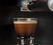 Świeżo robić kawa espresso Obrazy Royalty Free