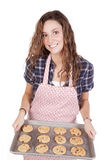 świeżo target1217_0_ kobiety piec ciastka Zdjęcia Stock