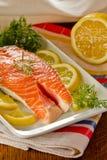 świeży łososiowy stek Fotografia Royalty Free