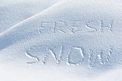 świeży śnieg Obraz Stock