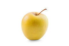 Świeży żółty jabłko odizolowywający Zdjęcia Royalty Free