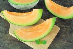 Świeży żółty melon lub kantalup obrazy royalty free
