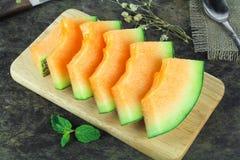 Świeży żółty melon lub kantalup fotografia royalty free