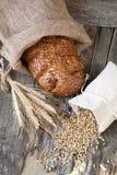 Świeży żyto bochenek chleb, wieśniaka styl obrazy royalty free