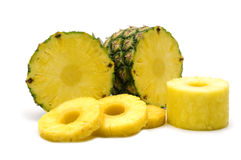 świeży ananasowy plasterek Fotografia Royalty Free