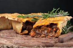 Świeży australijski mięsny kulebiak Obraz Stock