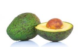 Świeży avocado plasterek odizolowywający na białym tle zdjęcie royalty free