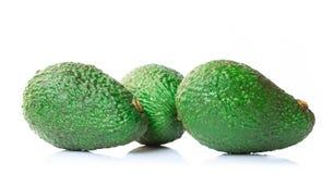 Świeży avocado plasterek odizolowywający na białym tle obrazy royalty free