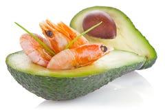 Świeży avocado z garnelą zdjęcie stock