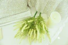 Świeży białego kwiatu bukiet w ślubie Obraz Royalty Free