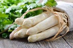 Świeży biały asparagus Zdjęcia Stock