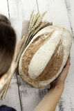 Świeży chleb i banatka Obrazy Stock
